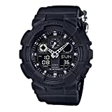Casio G-shock Ana Digi Black Men's Watch, 200 Meter Water Resistant with Day AND Date GA-100BBN-1A