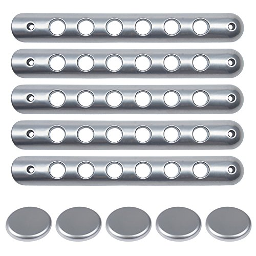 Grab Handle Inserts Cover+Push Button Knobs Cover Trim for 2007-2018 Jeep Wrangler JK & Unlimited 5PCS SILVER