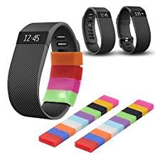Techion Protective Silicone Fasteners Ring Holder for Fitbit Flex/Garmin Vivofit/Samsung Gear fit Wristband/Fitbit Charge Wristband(20 pcs / pack)