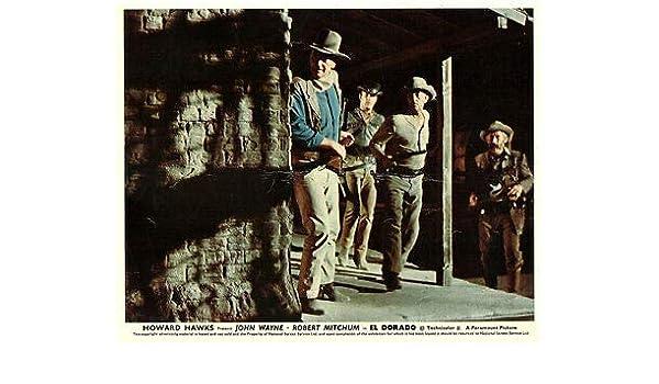 EL DORADO JOHN WAYNE ROBERT MITCHUM JAMES CAAN ORIGINAL LOBBY CARD