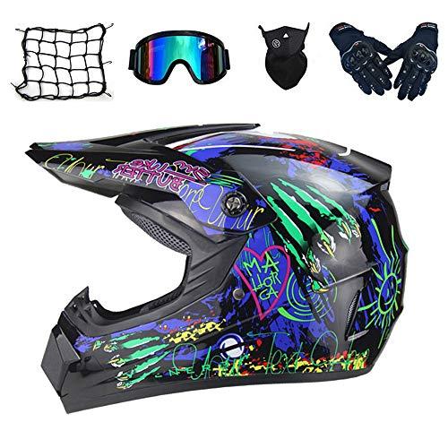 NKFDLY-Kinder Crosshelm Kinder Motorradhelm Motorradhelm Kind,Motorrad helm Motocross Helme Motocrosshelm Cross Helm (5…