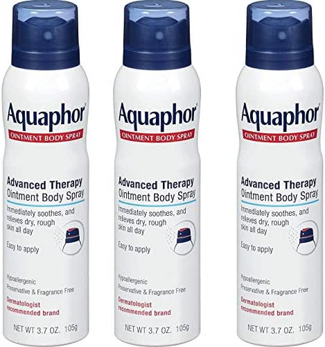 Aquaphor Ointment Body Spray - Moisturizes and Heals Dry, Rough Skin (3.7 Ounce (3 Count))