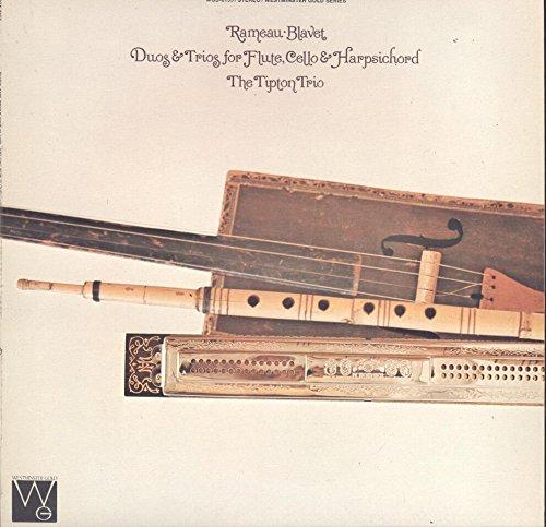 (The Tipton Trio: Rameau / Blavet Duos & Trios for Flute, Cello & Harpsichord LP VG++/NM)