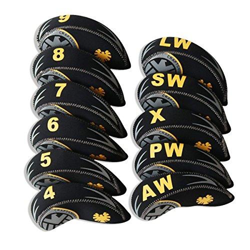 Craftsman Golf 11pcs (4.5,6,7,8,9,AW,SW,PW,LW,X ) Neoprene Golf Club Head Cover