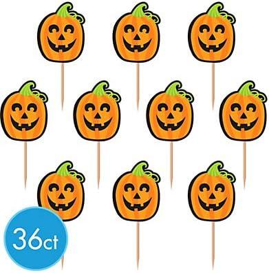 Jack O Lantern Cupcake Picks