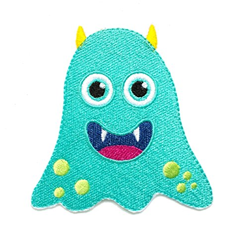 InspireMe Family Owned Cute Blue Monster Embroidered Iron On Patch 3.5