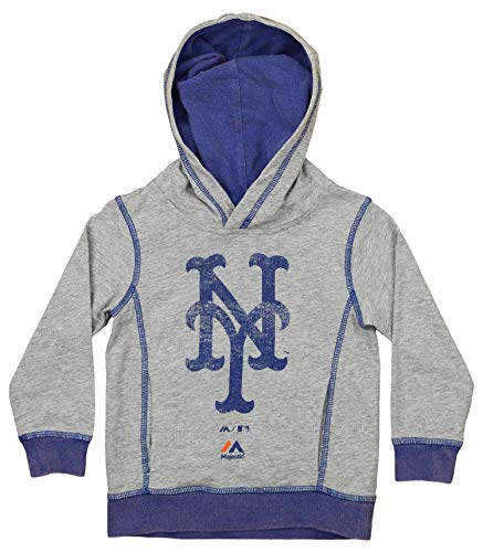 Outerstuff MLB Toddler (2T-4T) City Heritage Distressed Hoodie, New York Mets 2T ()