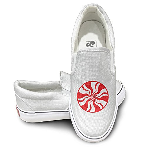 Cobain The White Stripes Unisex Canvas Flat Canvas Shoes Sneaker 35 White - Funny Wrecking Ball Costume