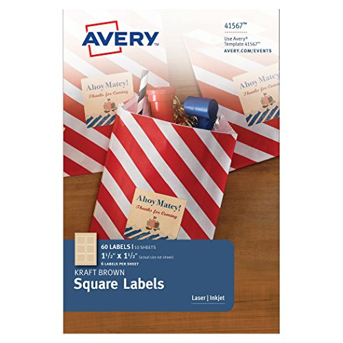 Avery Square Labels Inches 41567