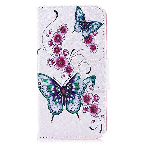 carte en fermeture fente support en PU magnétique avec Q8 LG protection pour avec étui d'impression peint conception Hozor Butterflies cuir Flip cas portefeuille de aérosol BRqwqx