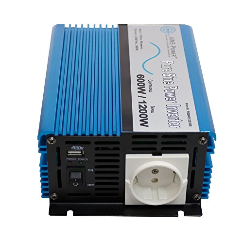 AIMS Power European 600 Watt, 220 Volt / 230 Volt 50hz, 12 VDC Pure Sine Power Inverter