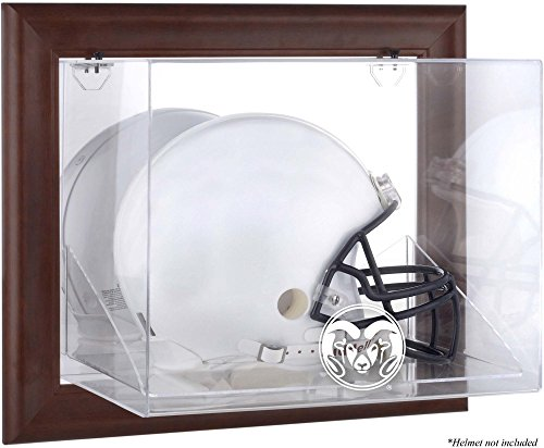 Colorado State Rams Brown Framed Wall-Mountable Helmet Display Case - Fanatics Authentic Certified - College Football Helmet Logo Display Cases by Sports Memorabilia