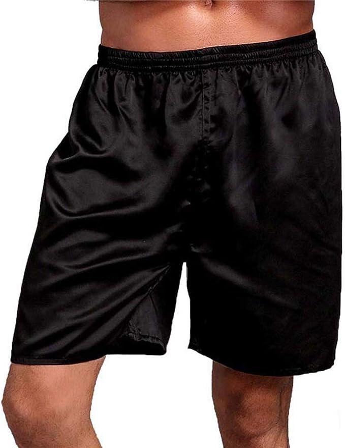 Gfone Pantalones Cortos de Pijama Sueltos de Cintura elástica para Hombres Ocasionales Pantalones de Pijama