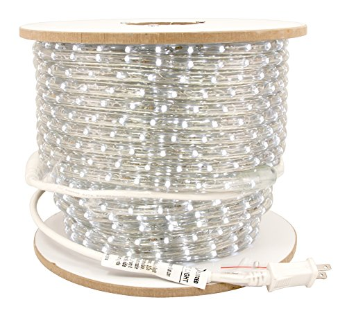 American Lighting ULRL-LED-WH-150 1-Reel 116-watt 945 Lumens 120V LED Dimmable Rope Light Bulk Reels, 150-Feet, (Rope Light Reel)