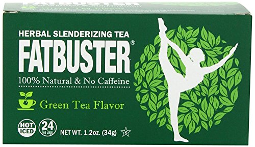 Fatbuster Weight Lost Herbal Slenderizing Tea Green Tea Flavor 24-Count (Pack of 4) by Fatbuster