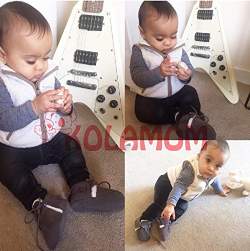 kolamomtm bebé niñas y niños ligero suela blanda borla primera Walker Mocasín tiras en forma de bebé prewalker cuna zapatos de infantil #K Talla:12cm(4.7inch) / UK 2 #L