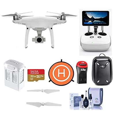 DJI Phantom 4 Pro+ Quadcopter Drone with 5.5in FHDScreen Remote Controller - Bundle With 32GB MicroSDHC Card, DJI Hardshell Backpack, DJI Intelligent Battery, Propellers, Drone Landing Pad, And More