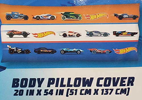 Hot Wheels Pillowcase Cover for Body Pillow (20in. X 54in.) ()