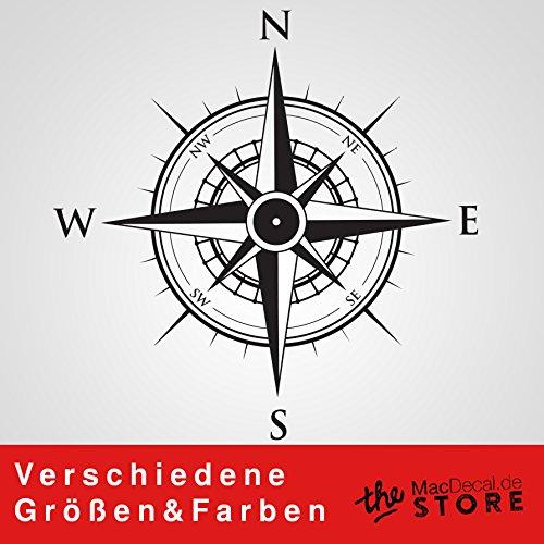 KOMPASS Aufkleber Wandtattoo Wandaufkleber Sticker (100 (B) (B) (B) x 100 (H) cm, Weiss) B01MFC2P1C Wandtattoos & Wandbilder be3926