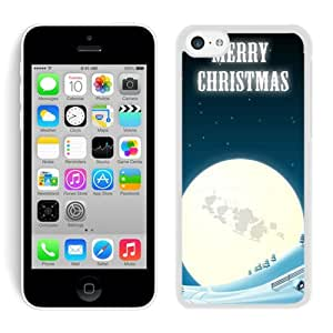 Hot Sell Design Iphone 5C TPU Case Merry Christmas White iPhone 5C Case 8