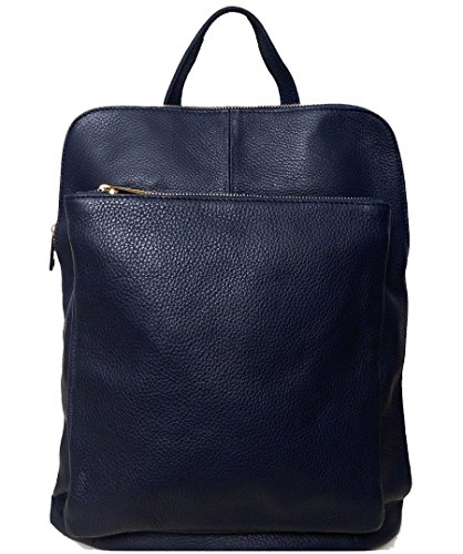 Bottega Carele - Bolso mochila de Piel para mujer azul oscuro
