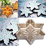Gessppo Non-Stick Snowflake Shape Cake Mold Steel Pan Bun Bread Mould Kitchen Bakeware Resistant High Temperature, Reusable and Durable 9 ❤❤Quantity:1pc-----Material:Carbon Steel-----Size :21.2x21.2x5cm-----Color:gold-----Package Include:1pc cake mold ❤️❤️12 Cup Silicone Muffin - Cupcake Baking Pan / Non - Stick Silicone Mold / Dishwasher - Microwave Safe; 2Packs Silicone Mini Muffin Pan, Silicone Molds for Muffin Tins, Cupcake Baking Pan (Red);Ware Platinum Collection Heritage Bundt Pan ❤️❤️Reusable Silicone Baking Cups, Pack of 12; Silicone Cake Mold Magic Bake Snake-DIY Baking Mould Tool Design Your Pastry Dessert with Any Pan Shape, 4 PCS/lot Nonstick Flexible Reusable Easy to Use and Wash, Perfect Gift Idea for Your Love
