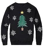lymanchi Women Christmas Sweatshirt Pullovers Crewneck Fleece Ugly Xmas Sweaters