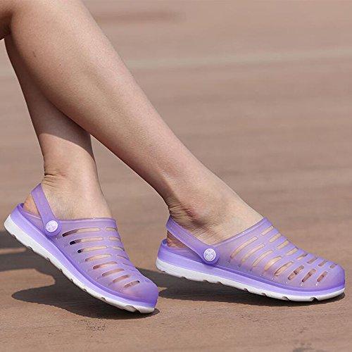 DULEE - Sandalias deportivas para mujer morado