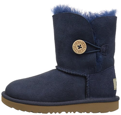 UGG Girls T Bailey Button II Pull-On Boot, Navy, 12 M US Little Kid by UGG (Image #5)