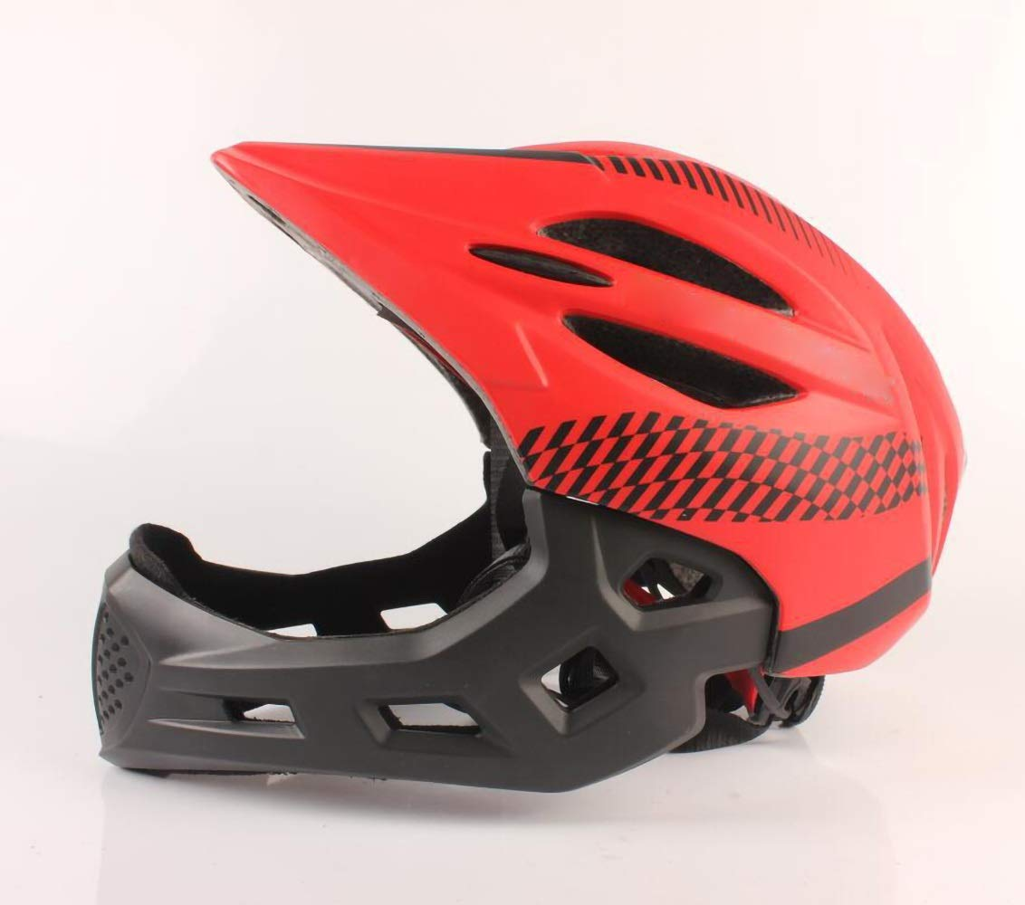 キッズヘルメット キッズヘルメット、キッズセーフティバイクヘルメットサイクリングスケートスクーター(男の子/男の子用)(4852cm用) (Color : Red)   B07PZFMTX2