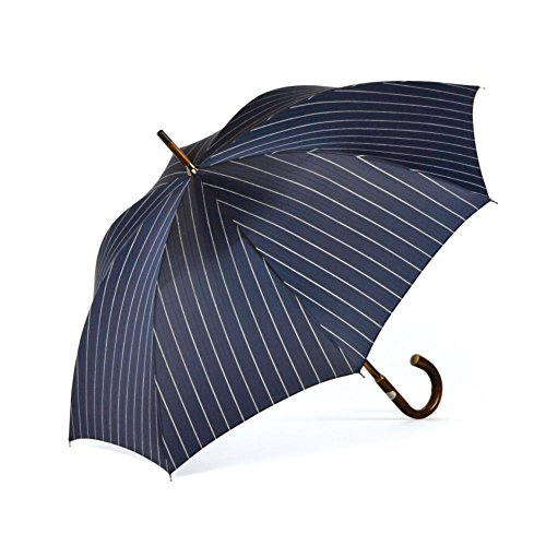 ShedRain Umbrellas Ombrelli Italian Stick Umbrella, Navy Wide Stripe by ShedRain