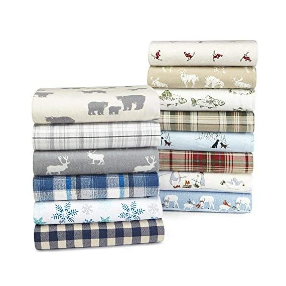 Eddie Bauer | Bear Family Collection | 100% Cotton Flannel Sheet, 3-Piece Bedding Set, Pre-Shrunk and Brushed for Ultra Soft and Cozy Feel, Twin, Grey - INCLUDES: (1) fitted sheet, (1) flat sheet, (1) pillowcase MATERIAL: 100% Cotton Flannel FEATURES: Pre-shrunk and brushed for added softness. Fully elasticized fitted sheet prevents slipping from mattress and ensures a perfect fit - sheet-sets, bedroom-sheets-comforters, bedroom - 51jboZOV AL. SS570  -