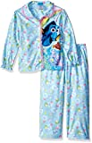 Disney Little Girls' Toddler Finding Dory 2-Piece Pajama Coat Set, Blue, 2T