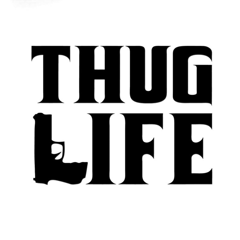 Amazon com thug life vinyl decal sticker cars trucks vans walls laptops cups black 5 5 inches kcd1022 automotive