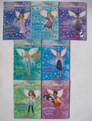 Rainbow Magic: The Ocean Fairies Complete Set, Books 1-7 (Ally the Dolphin Fairy, Amelie the Seal Fairy, Pia the Penguin Fairy, Tess the Sea Turtle Fairy, Stephanie the Starfish Fairy, - Swell Magic
