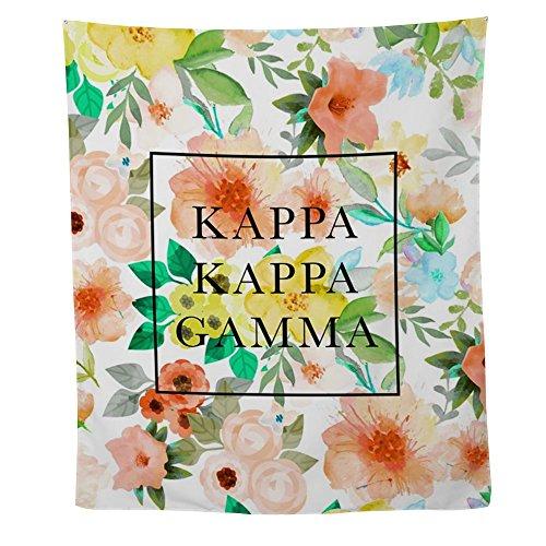 CafePress - Kappa Gamma Floral - Wall Tapestry