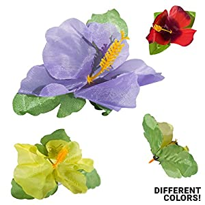 Hibiscus Artificial Flowers Assorted Colors & Variety | Tropical Decorations for All Purpose DIY Crafts Luau Party and More | Decorative Art Pack | Special Edition Deal 66