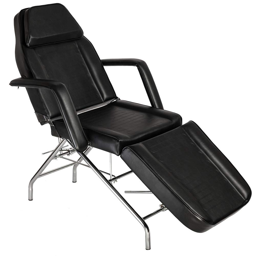 Mefeir 72'' Adjustable Facial Chair Massage Bed Table with Removable Arm & Headrest, Portable for Tattoo Wax Medical Treatment Salon SPA