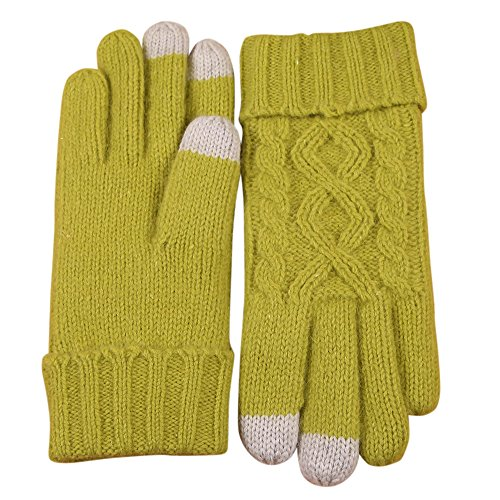 Texting Touchscreen Winter Cold Weather Super Warm Cozy Wool Knit Thick Fleece Lined Gloves Mittens