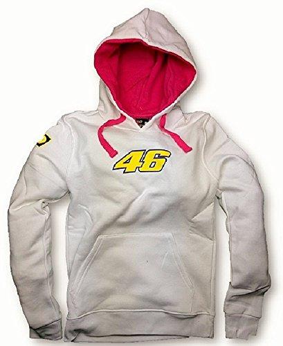 MotoGP Valentino Rossi para mujer blanco sudadera con capucha sudadera