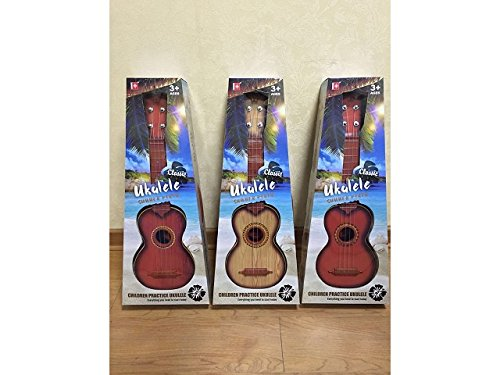 NBD 21' Red Ukelele Guitar, Toy Guitar Instrument For Kids by NBD