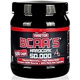 BodyWorldGroup Master Aminoácidos de cadena Ramificada Hardcore 50.000, Músculo Line, 500 Cápsulas, 1er Pack (1 x 295 g)
