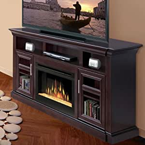 Amazon Com Bailey 66 Quot Tv Stand With Electric Fireplace