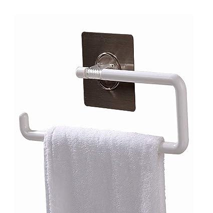 Toallero de papel de cocina montado en la pared – No necesita taladrar toallero de baño
