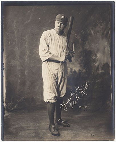 1920 Photo Babe Ruth, full-length portrait, standing, for sale  Delivered anywhere in USA