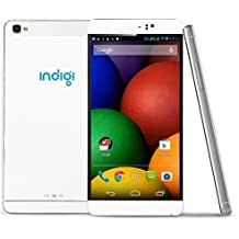 "2016 Newest 6"" Unlocked Indigi M8 White Wireless SmartPhone Android 5.1 (Dual SIM) Unlocked"