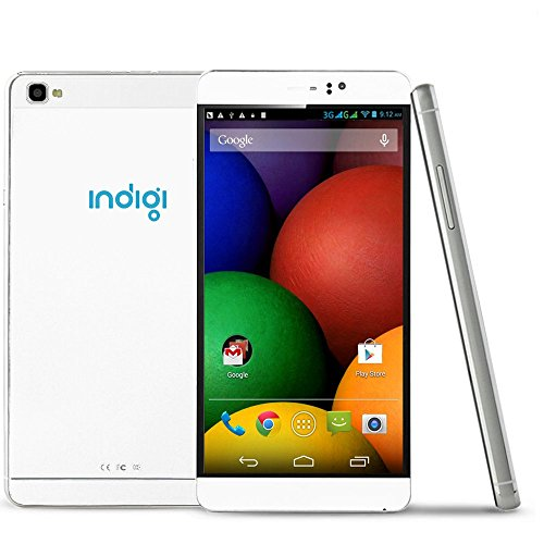 2016 Newest 6″ Unlocked Indigi M8 White Wireless SmartPhone Android 5.1 (Dual SIM) Unlocked