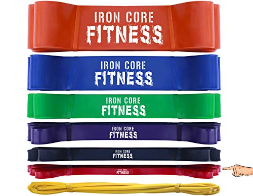 Light Resistance Bands from Assisted Pullup Bands Set - Bodybuilder Bands for Legs Abs Back Chest Glutes Butt Muscle Building - Muscle Band for Home Gym Crossfit Box Gym Toning and Training -Small Red (Best Home Gym For Building Muscle)