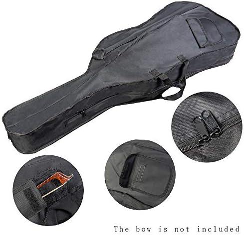 4/4 Cello-tas Rugzak-hoes Zachte draagtas met schouderriem Zijhandgreep Cello-accessoires Strikzakken Zwart
