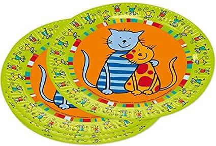 8 platos para fiestas * * Gatos de Lutz Mauder//11212 ...